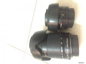 Len 18-135mm is Canon; 50mm 1.8 II
