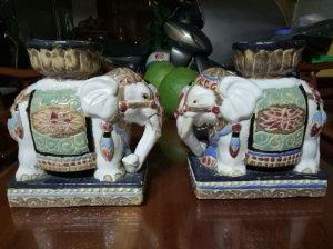 Cặp voi để bàn xưa, độc lạ hiểm có