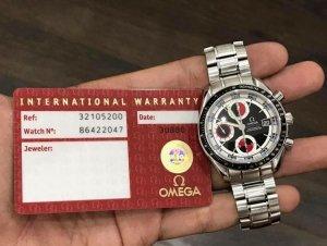 """Omega Speedmaster automatic """"Ngựa lớn"""" mặt số """"Đặc biệt"""" có thẻ Khai sinh zin Omega Thuỵ Sỹ"""