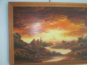 Tranh sơn dầu châu âu vẽ cảnh hoàng hôn rất đẹp