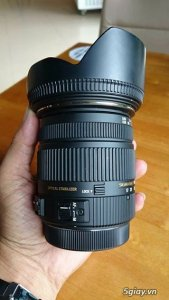 Lens SIGMA 17 50 F2.8 likenew ( nobox ) , Grip Zin , Flash