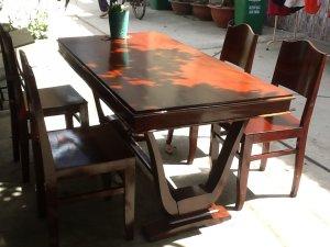 2 bộ bàn ăn chân chử v xưa