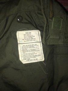 cần sang nhượng 1 áo m65 đẹp đời 1976