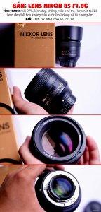 Lens Nikon 85G F1.8 + Sony kit 28-70 mới đẹp giá tốt