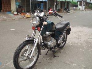 Moto daelim VS 125cc xe thùng màu xanh