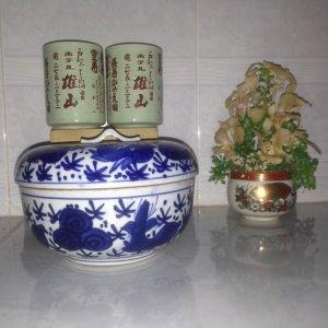Thố nắp Nhật xưa, TẶNG 2 cốc viết chữ