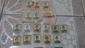 postcard và tem Brunei