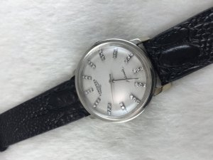 Longines Automatic solid 14k White gold dial's full diamonds