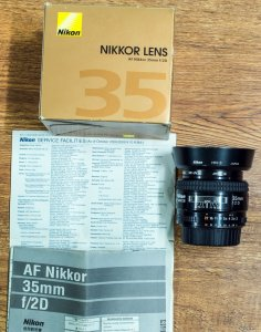Lens Nikon 35f/2D New 99% Fullbox