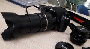 Pentax K5 + Lens Tamron 18-200 macro. Tặng lens Pentax 50f2