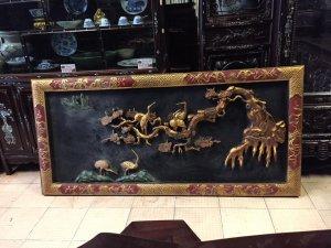 Bức tranh sơn son thiếp vàng Tùng Hạc Diên Niên