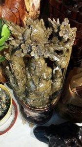 Di Lạc Ngồi gốc đào 50cm (thủy tùng Lào)