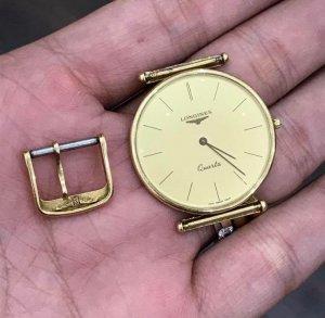 Longines vỏ vàng đúc 18K zin Thuỵ Sỹ toàn bộ 100% size 31mm