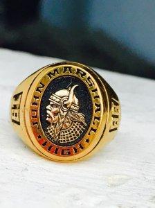 Nhẩn mỹ lắcke logo vàng 10k thành tròn tuyệt đẹp
