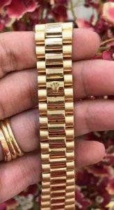Dây khoá vàng đúc 18K zin Rolex 18238 Thuỵ Sỹ 100%