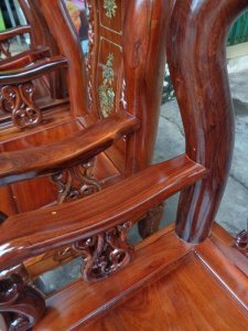 Bộ ghế cột 10 gỗ Cẩm lai việt 10 món
