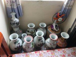 Bán bộ sưu tập gốm sứ, bình lọ, tranh của chồng tôi
