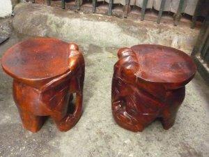 Đôn voi gỗ bày đồ
