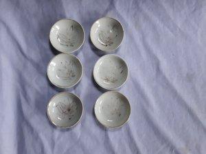 gl 6 đĩa mini bạch định vẽ vàng. chuẩn cổ