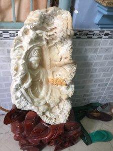 Phật BÀ QUAN THẾ ÂM băng Vỏ sò cổ đã hóa ngọc - Chỉ có một không có cái thứ 2
