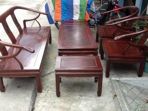 bộ salon minh thúng gỗ hương