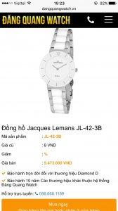 Đồng hồ Jacques Lemans Full Box , chưa bóc tem. lh 0120.558.8883