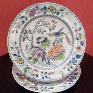 Cặp đĩa sứ Trung Quốc.