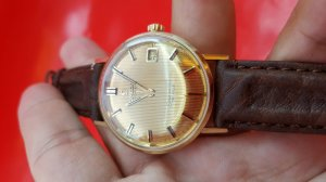 Omega seamaster deville vỏ vàng khối 14k mặt phên vàng xưa chính hãng