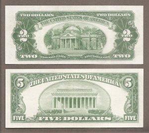 $2 + $5 - 1928 F - Seri khá Tốt .