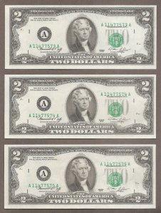 $2 - 1976 - Tiền In Bị lỗi .
