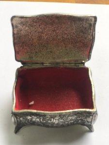 Hộp Đựng Trang SứcLắc Kê Bạc - Đồ Xưa hàng Xách tay từ Mỹ