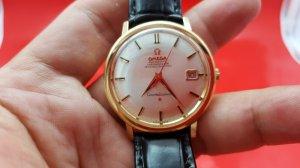 Omega Constellation vỏ vàng khối 18k núm ẩn xưa chính hãng