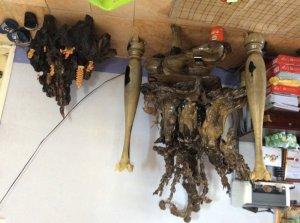 Bộ tượng Tam đa và Đạt ma tổ sư hàng Long; gỗ mun xanh