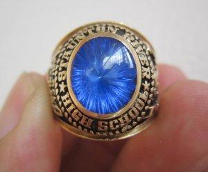 Nhẫn mỹ 10K, xanh dương biển tia rực rỡ, năm 1977, đại bàng tung cánh