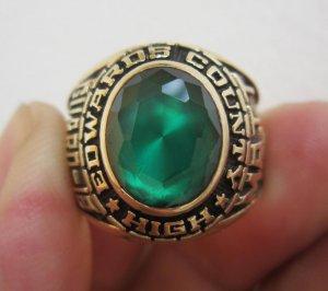 Nhẫn mỹ 10K, xanh lính, năm 1988 họa tiết vua sư tử.