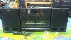 Đài Radio Cassette SONY CFS-KW300S (Máy to khủng - Đẹp xuất sắc)
