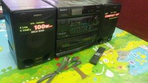Đài CD Radio Cassette SONY CFD-DW560S (Đài mới nguyên 100%, chưa bao giờ được sử dụng)