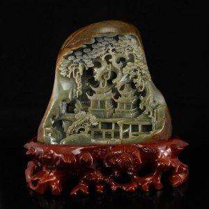 Tượng đá ngọc quý Hetian Trung Quốc
