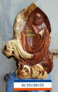 Tượng gỗ đạt ma .lh.973521789