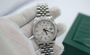 ( sold) Đồng hồ Rolex 116244 mặt vi tính, cọc số kim cương thiên nhiên chính hãn