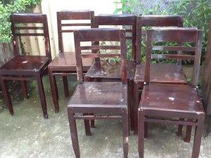 6 ghế đai gõ đỏ