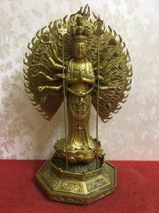 Phật Thiên thủ thiên nhãn rất đẹp và thần thái. Chất liệu: Đồng đúc. Kích thước: Cao 35/23 nặng 3.4k