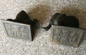 kỳ lân và voi bằng đồng