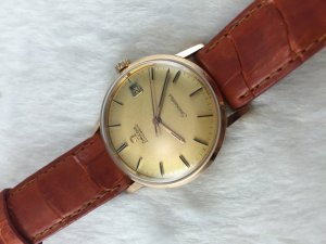 Omega Seamaster Automatic solid 18k Pink gold Cal563 dial's Yellow Sand