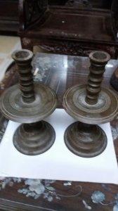 Chân nến đồng cũ cao 19.5 cm.giá 450k