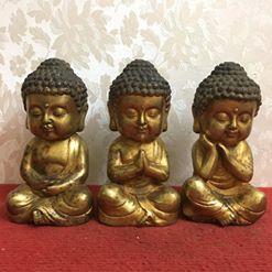 Bộ tam thế Phật nhìn đẹp và đáng yêu các Bác nhỉ? Mời các Bác hữu duyên ạ! Chất liệu: Đồng đúc. Kích