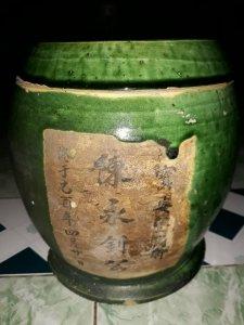 Hũ trà minh văn Lái Thiêu xưa