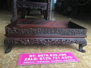 khay trà lối huế gỗ trắc tỉ mỉ sắc nét - 0979 839 286