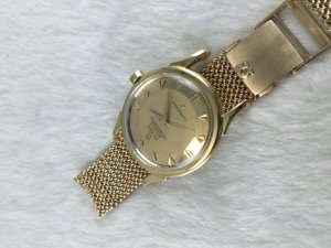 Omega Constellation Deluxe Pie Pan Chronometer Automatic solid 18k gold Case & Dial's Arrowhead 18k