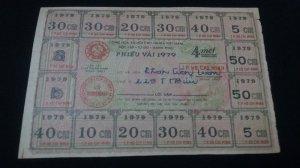 phiếu vải 4 mét 1979